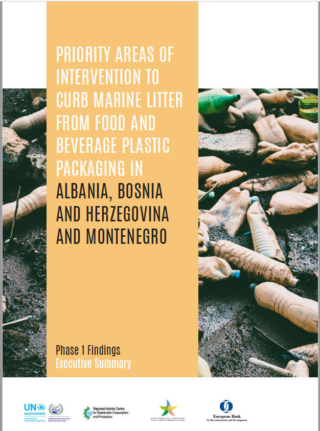Priority areas of intervention to curb marine litter from food and beverage plastic packaging in Montenegro