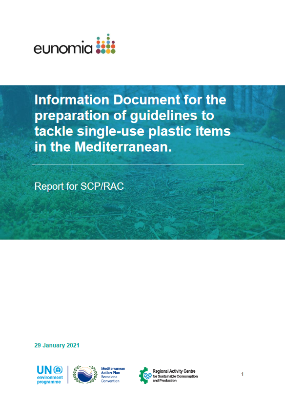Information Document for the preparation of guidelines to tackle single-use plastic items in the Mediterranean